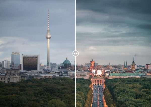 Brandenburger Tor und Fernsehturm Time Blending Thumbnail