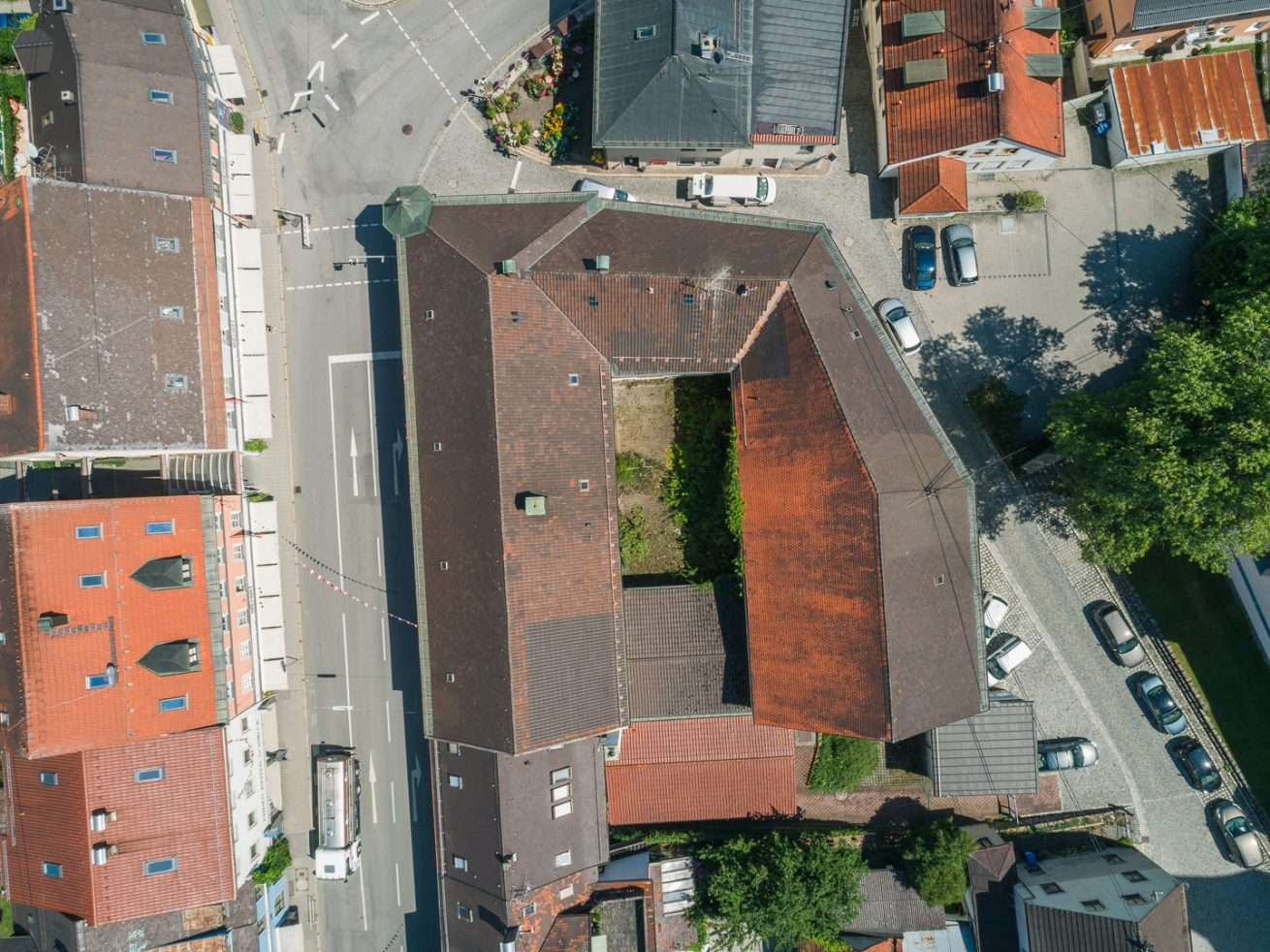 Drohnenaufnahme Immobilie