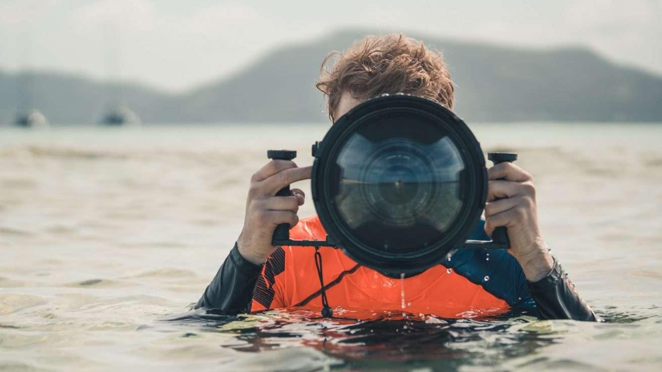 Unterwassergehäuse Filmaufnahmen