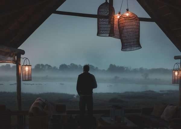 Blick auf den Hippo Teich vorm Sable Alley Camp